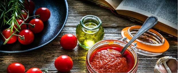 tomato paste in a jar