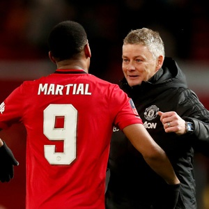 Anthony Martial and Ole Gunnar Solskjaer
