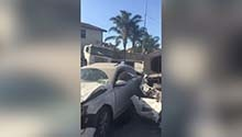 WATCH | Truck carrying cement crashes into 17 cars, several people injured