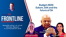 WATCH | News24 Frontline: Pravin Gordhan on Budget 2020, Eskom, SAA and the future of SA