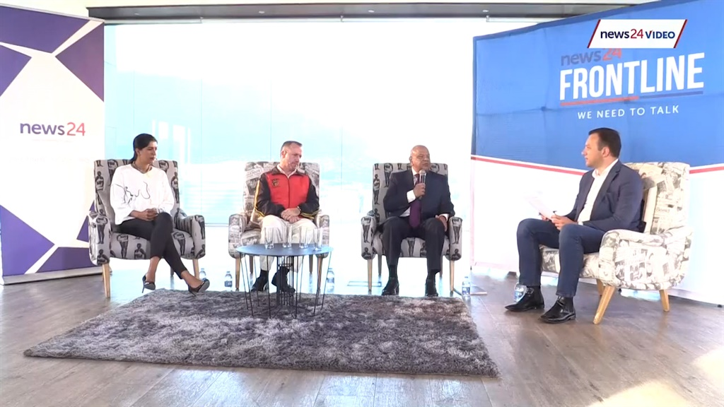 The panellists for News24's post-budget Frontline. (News24)