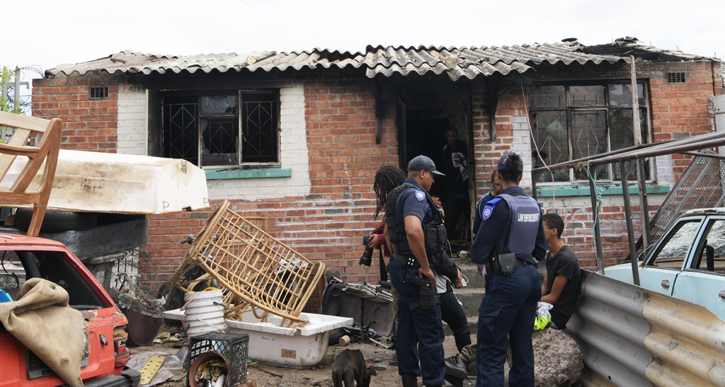 Police and law enforcement raid houses in Ocean View after violent attacks in the area on Wednesday 26 February 2020.