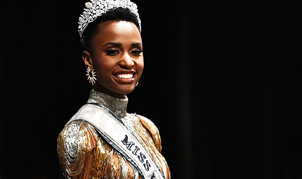 Miss Universe 2019 Zozibini Tunzi.(Photo by Paras Griffin/Getty Images)