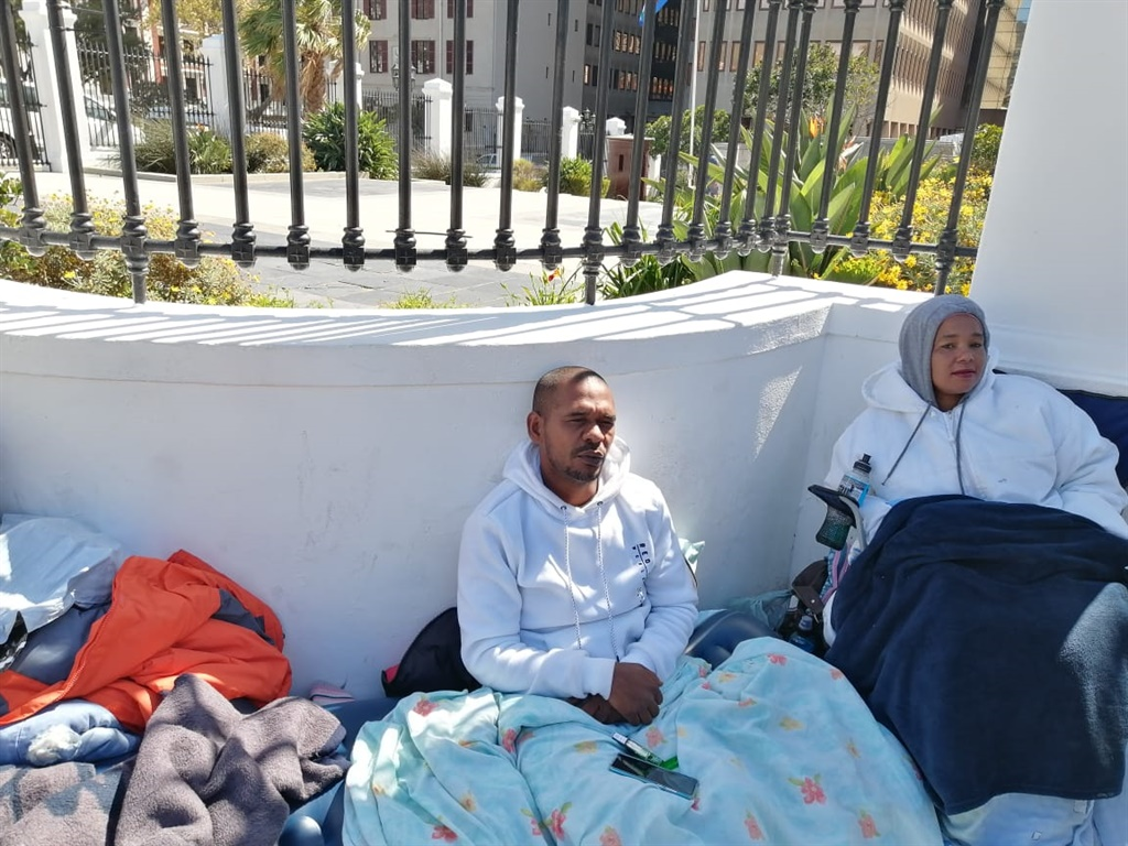 Community activists stage hunger strike outside Parliament - News24