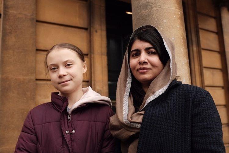 Greta Thunberg and Malala Yousafzai pose together for a picture. (Photo: Greta Thunberg/ Instagram)