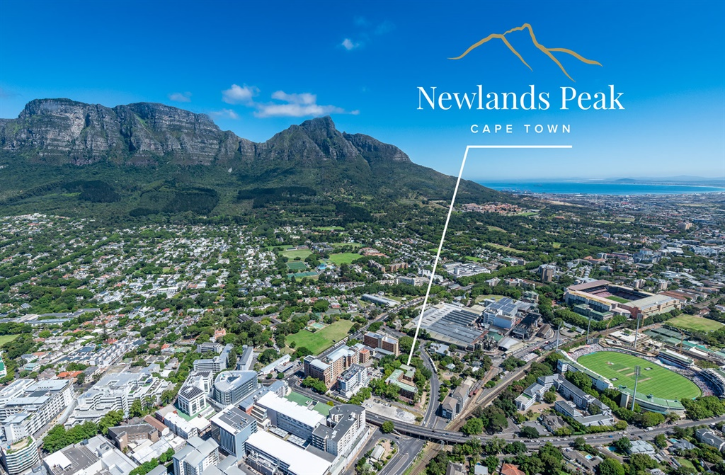 Location of Newlands Peak in Cape Town.
