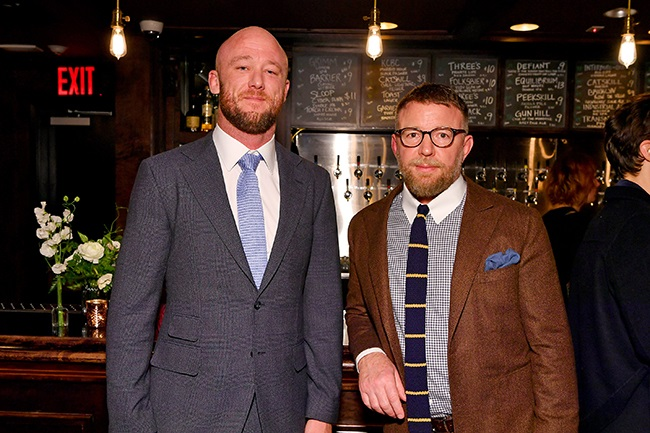 Ivan Atkinson and Guy Ritchie attend the Special NY Screening of The Gentlemen at the Alamo Drafthouse on 11 January 2020 in New York City. (Photo: Slaven Vlasic/Getty Images for STXfilms)