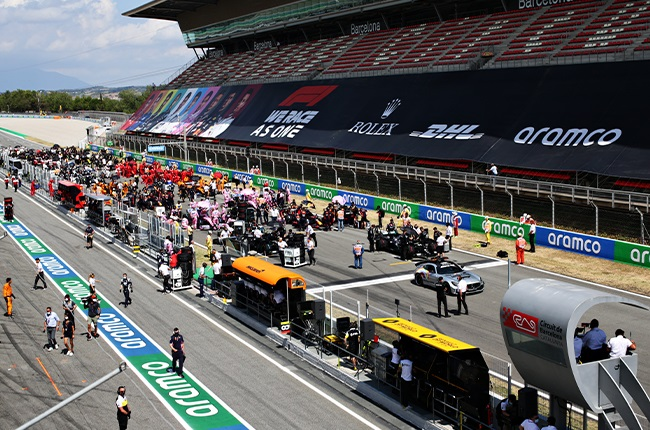 Minutes before the start of the 2020 Spanish Grand Prix