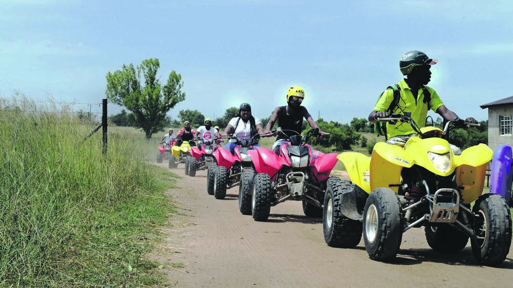 The Free State winners of the Move with Cassper campaign got to do quad biking hosted by Real Adventures. Picture: Cebile Ntuli