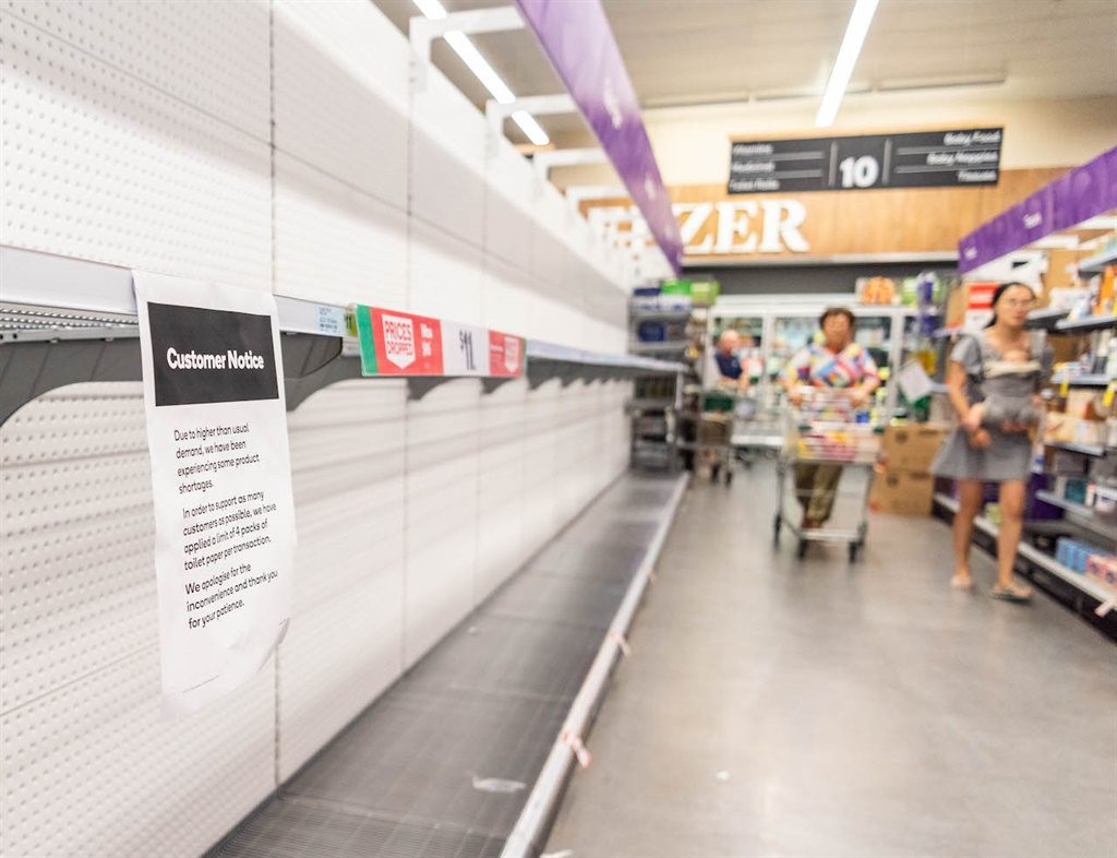 Empty toilet paper shelves in a supermarket in Brisbane, Australia, on 4 March 2020. (Photo by Florent Rols/SOPA Images/LightRocket via Getty Images)