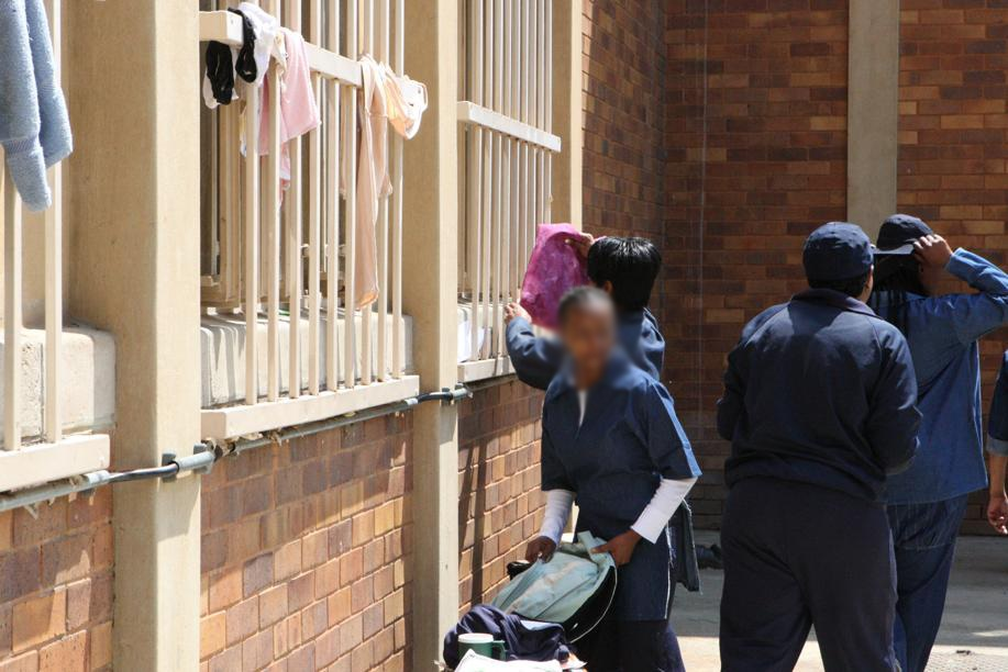 Female prisoners at Sun City prison, south of Johannesburg. Picture: Lucky Nxumalo