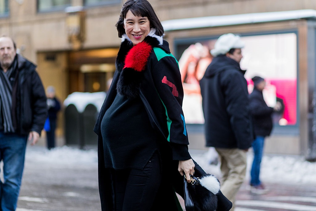Eva Chen outside Calvin Klein on 10 February 2017 in New York City. (Photo by Christian Vierig/Getty Images),