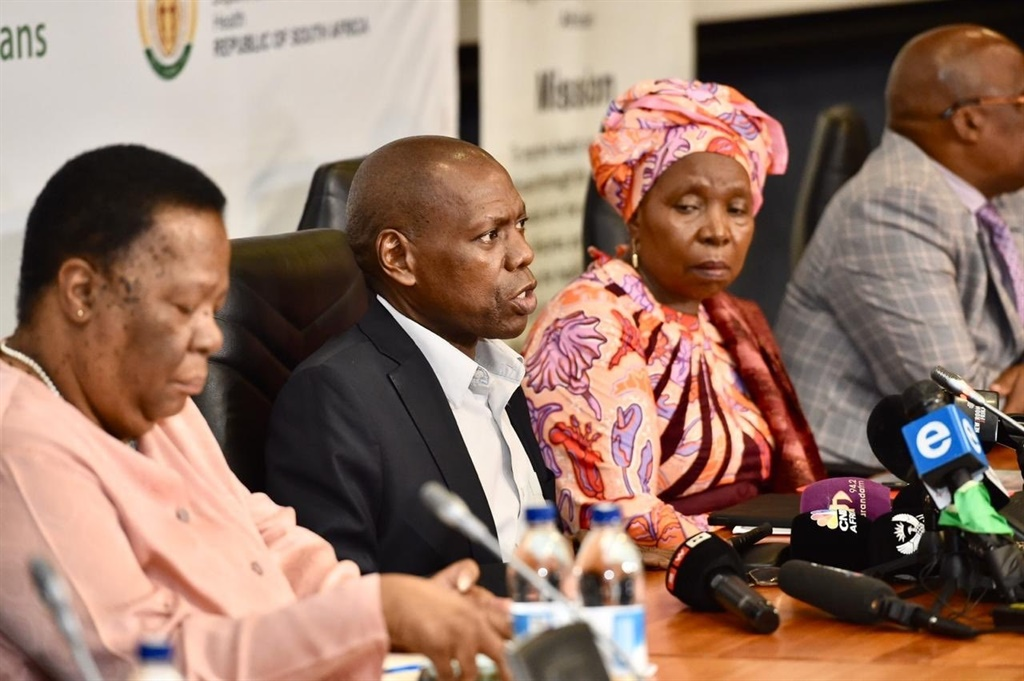 Health Minister Dr Zweli Mkhize speaks during an Inter-Ministerial Committee media briefing. Picture: Twitter