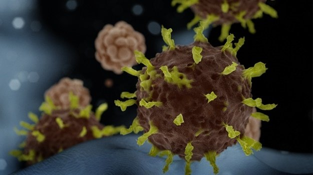 3D art based in microscope images of the corona virus from the 2020 outbreak in Wuhan, China