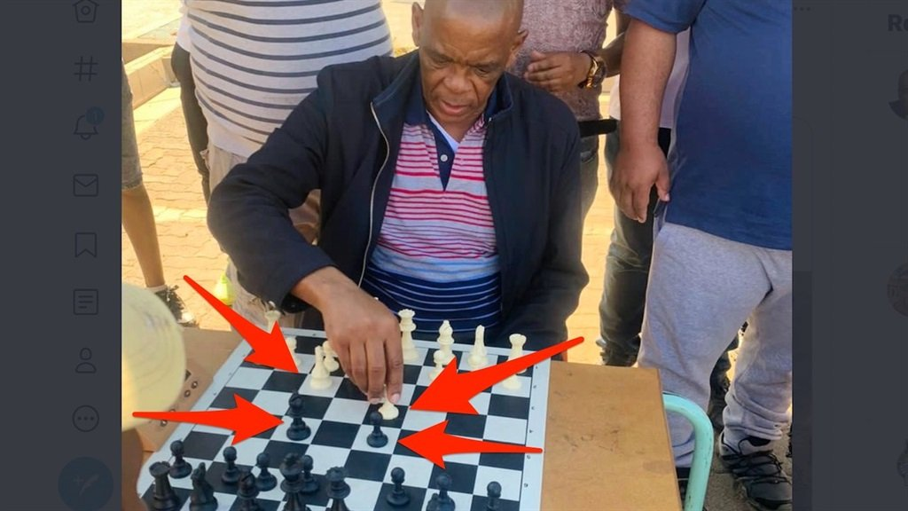 Ace Magashule plays chess, strangely