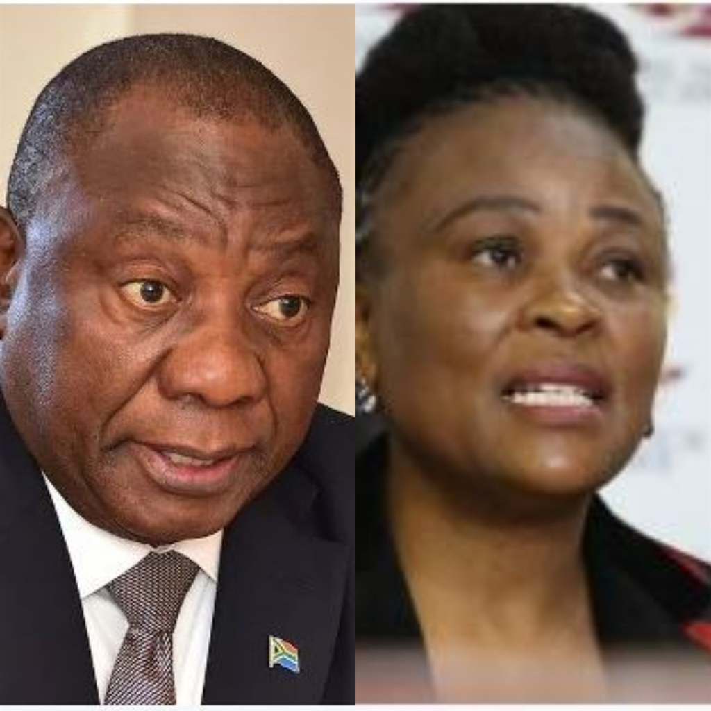 Here we go again| President Cyril Ramaphosa and Public Protector Advocate Busisiwe Mkhwebane. Picture: File
