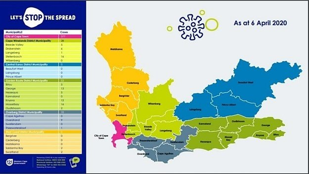 Western Cape coronavirus April 6 (Supplied by West
