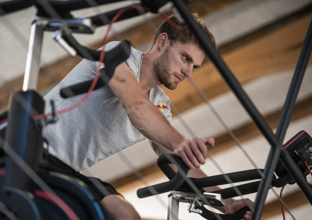 Brad Binder is seen during a training session in T