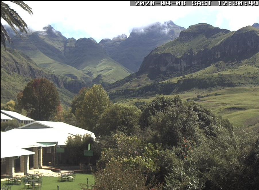 The Cathedral Peak view in the Drakensberg. Source