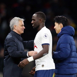 Jose Mourinho and Moussa Sissoko (Getty Images)