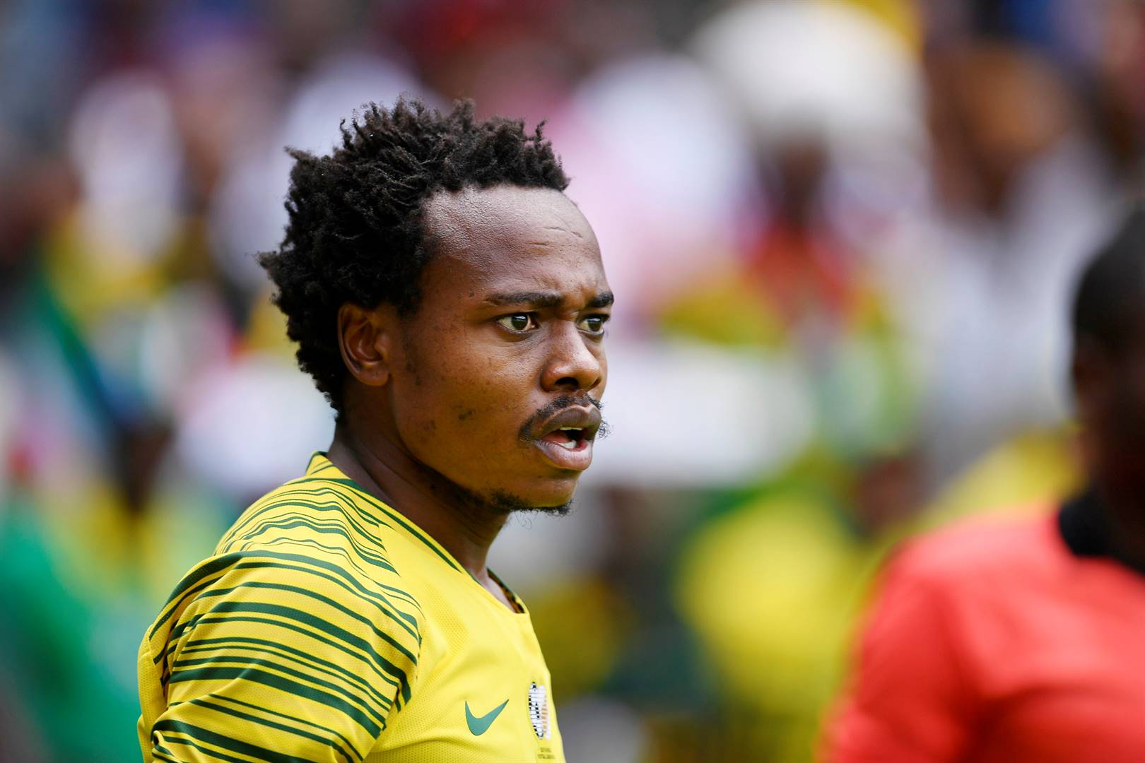 Percy Tau will boost the Bafana front-line against Zambia on Sunday Picture: Lefty Shivambu / Gallo Images