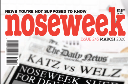 A copy of the March 2020 edition of Noseweek.
