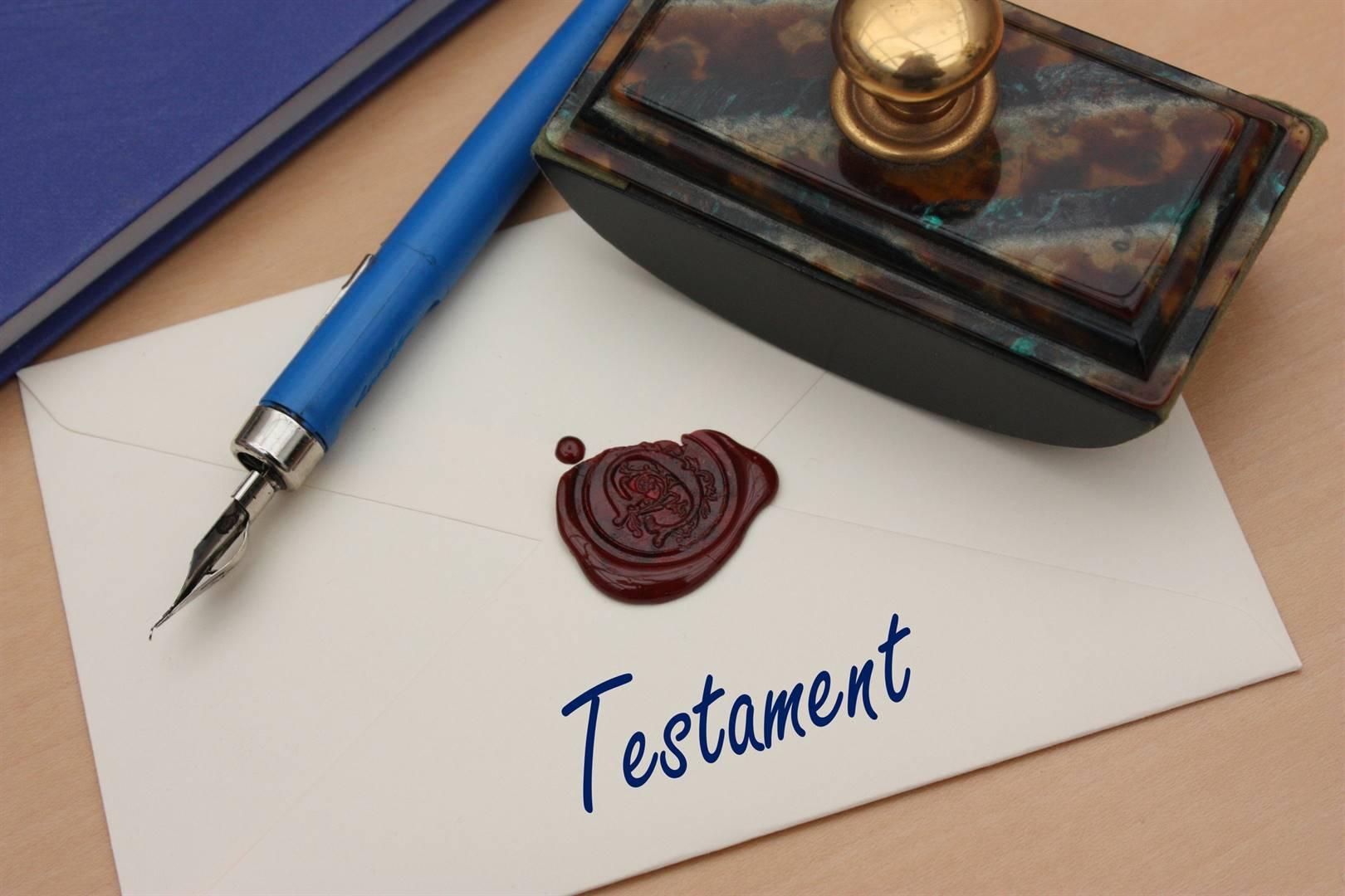 Daar is baie voordele daaraan om 'n geldige testament op te stel.Foto: iSTOCK