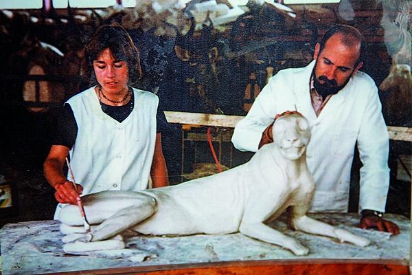 Katharina Hecker by haar leermeester, Nico van Roo