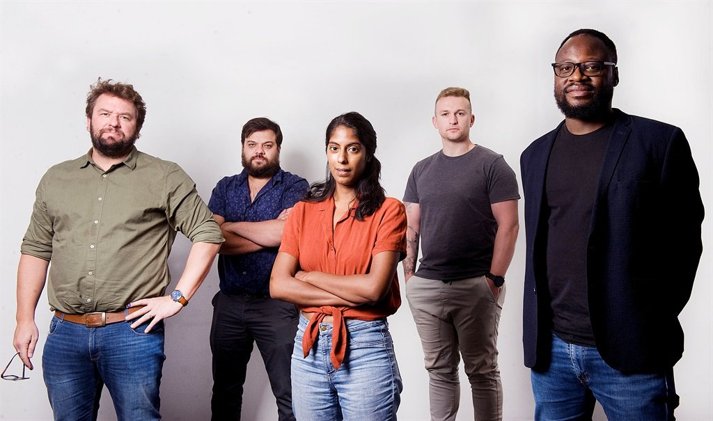 News24 is again the most trusted South African news source. News24's investigative team is, from left, Pieter du Toit, Kyle Cowan, Azarrah Karrim, Jeff Wicks and Sipho Masondo.