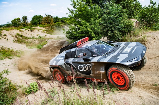 Audi RS Q e-Tron that will compete in the 2022 Dakar Rally