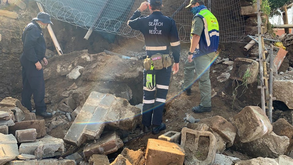 PICS | One dead, three seriously injured as building collapses in KZN - News24