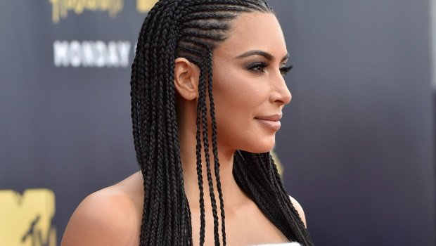 TV personality Kim Kardashian attends the 2018 MTV Movie And TV Awards at Barker Hangar on June 16, 2018 in Santa Monica, California. Photo by Axelle/Bauer-Griffin/FilmMagic