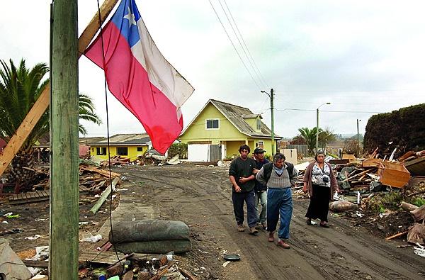 Nog 'n aardbewing het Chili in 2010 getref en heri