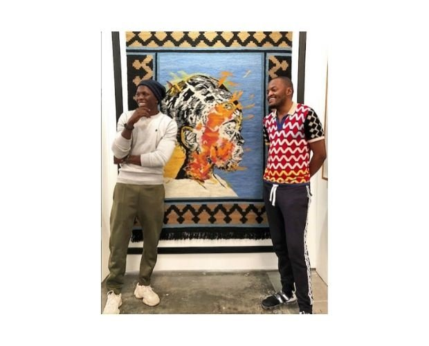 Nelson Makamo and Laduma Ngxokolo with their collaboration (Photo: Supplied)