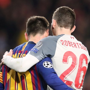 Lionel Messi and Andy Robertson
