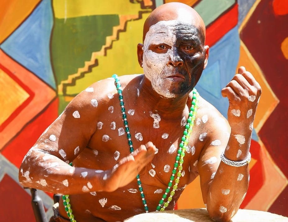 The late, legendary percussionist Mabi Thobejane pictured in 2018. (MELT 2000/Forest Jam Southern Africa)