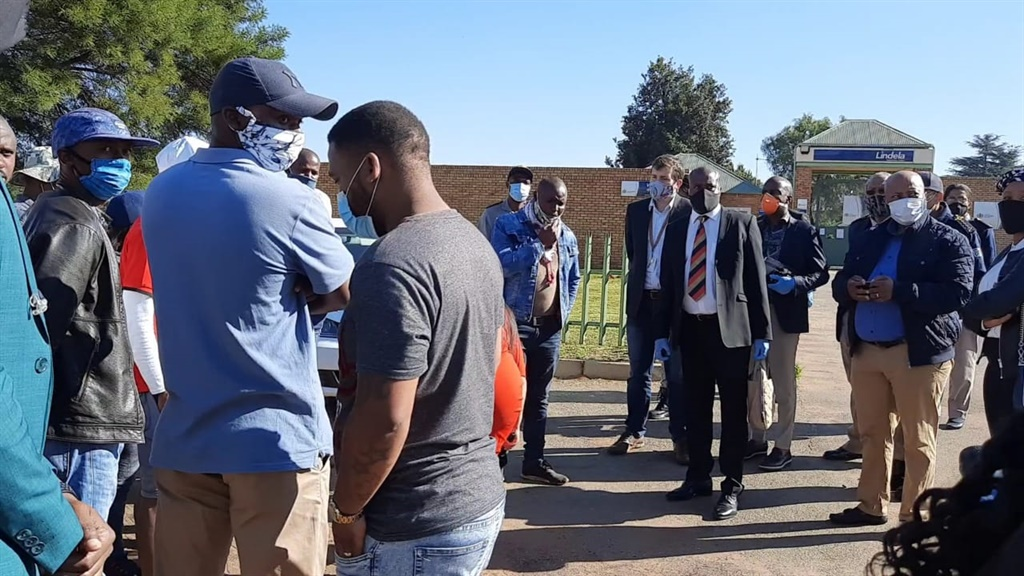 Portfolio Committee chair on Home Affairs Bongani Bongo on an oversight visit at the Lindela Repatriation Centre in Krugersdorp, Johannesburg.