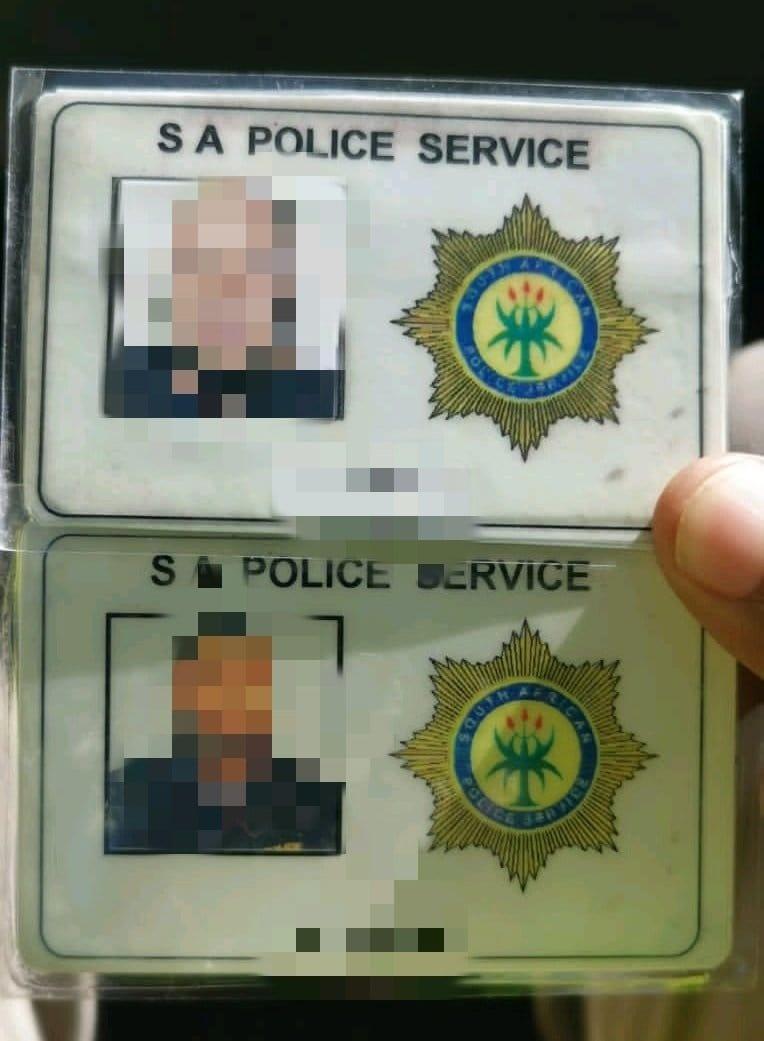 Fake police identity card