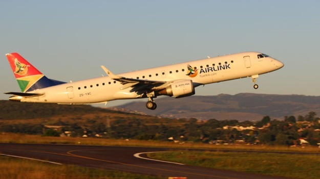 Airlink plane taking off