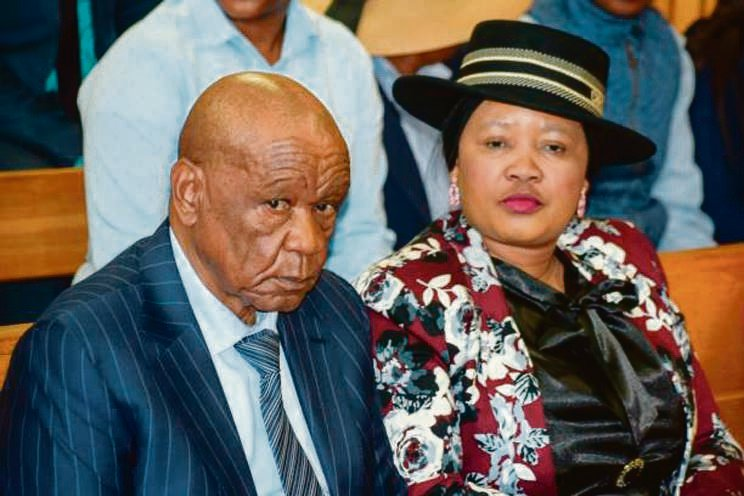 Outgoing Lesotho Prime Minister, Tom Thabane and his wife Maesaiah. (Getty Images)