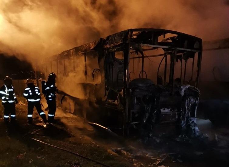 Golden Arrow buses on fire at the Blackheath depot