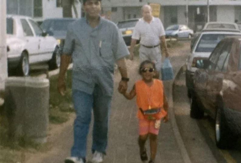 Die stappies met ma en pa as kind het sy die meest
