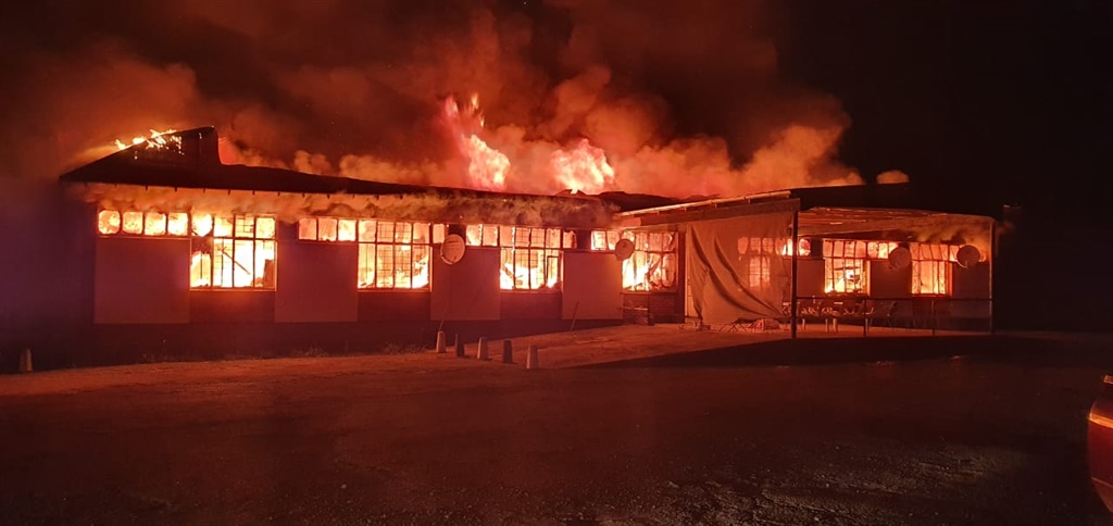 A pensioner died after a Mpumalanga shelter went up in flames.