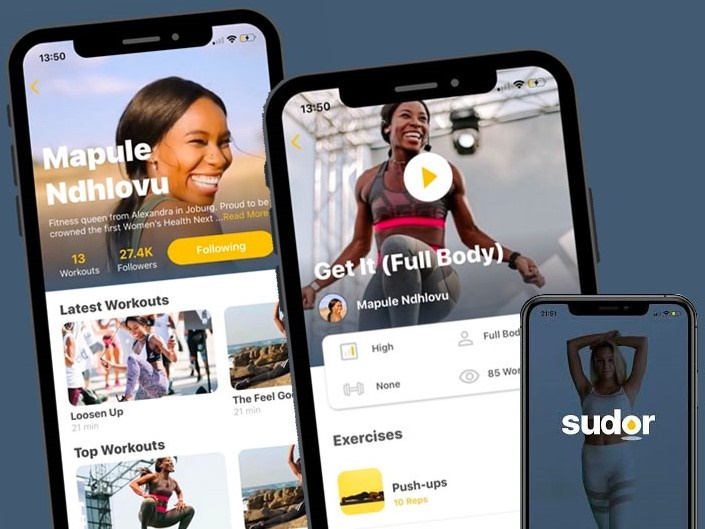 Sudor, a fitness app featuring some of SA's best trainers. Picture: Supplied