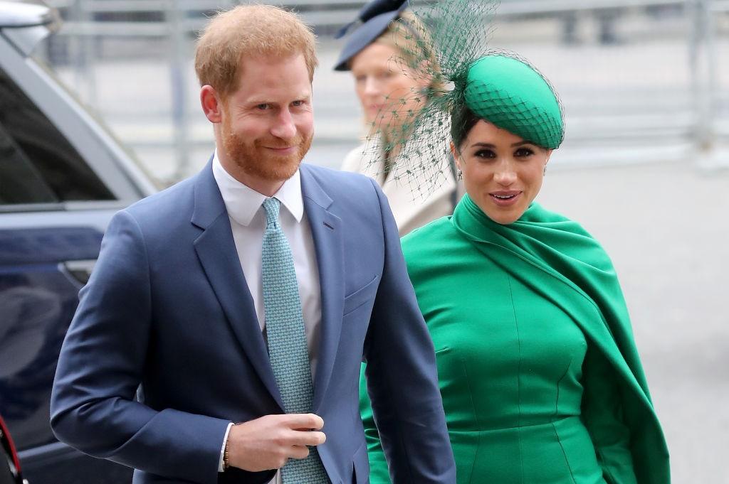 Prins Harry en Meghan op 9 Maart 2020 in Londen. F
