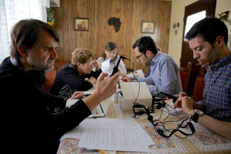 Members of the project recording Patagonian Boers.