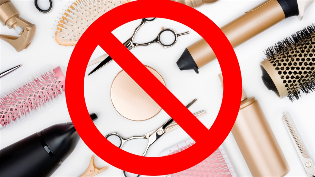Hairdressing: not allowed