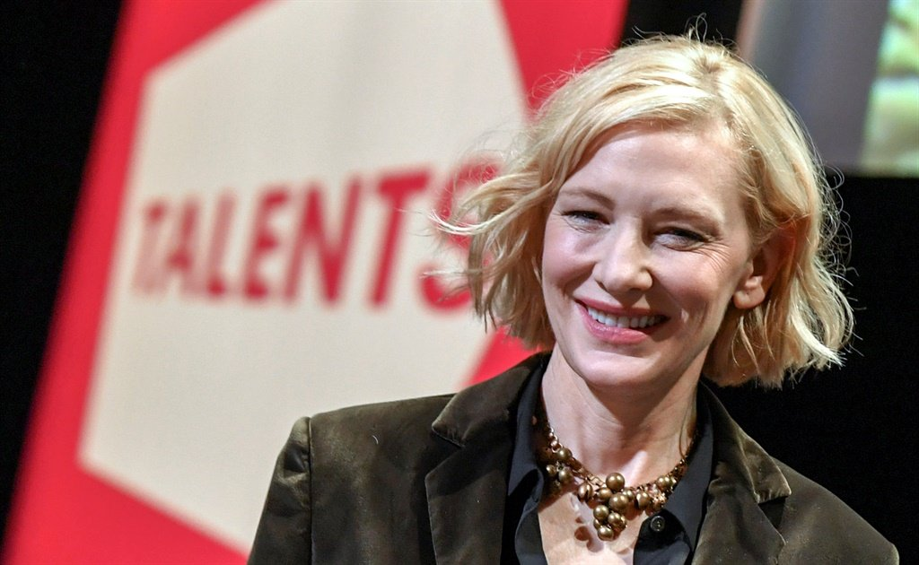 Cate Blanchett takes part in a talk of the Berlinale section Talents at HAU 1. The International Film Festival. Photo by Jens Kalaene/ Picture Alliance via Getty Images