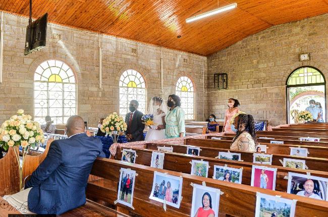 Kenyan couple's Cvoid-19 wedding