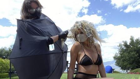 Heidi Klum and celebrity hairstylist, Lorenzo Mart